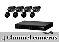 4 Ch DVR &  Camera Kits